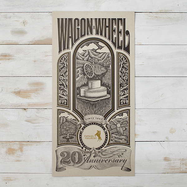 Wagon Wheel Commemorative Poster